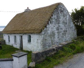 Aran Islands, Inishmaan,  traditional old style Irish cottage.