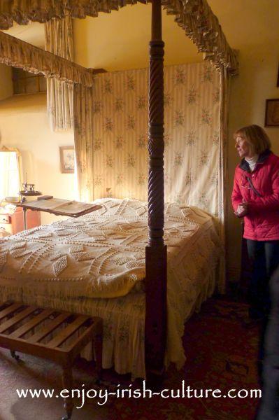 The gentleman's bedroom at Strokestown Park House, County Roscommon, Ireland.