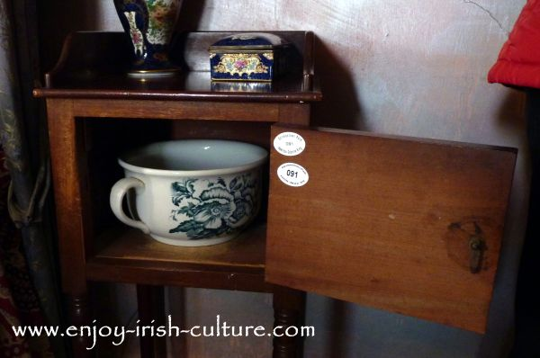 Chamber pot at Strokestown Park House, County Roscommon, Ireland.