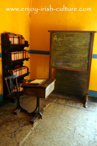 The school room at Strokestown Park House, County Roscommon, Ireland.