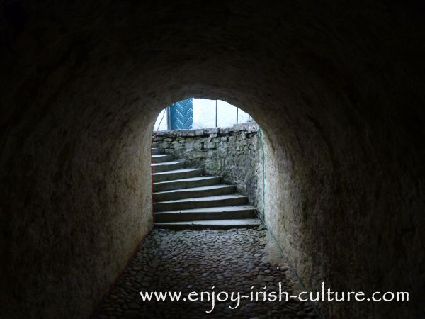 The servant's tunnel at Strokestown Park House, County Roscommon, Ireland.