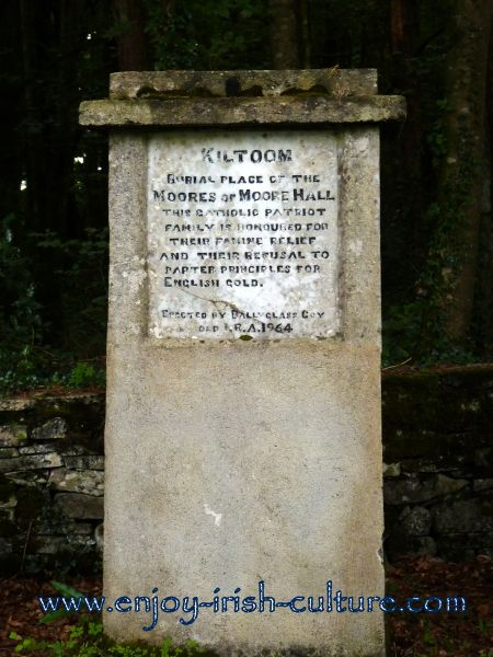 Memorial to the Moore family at Moore Hall, County Mayo, Ireland.