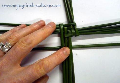 A Bridgets cross half way made.
