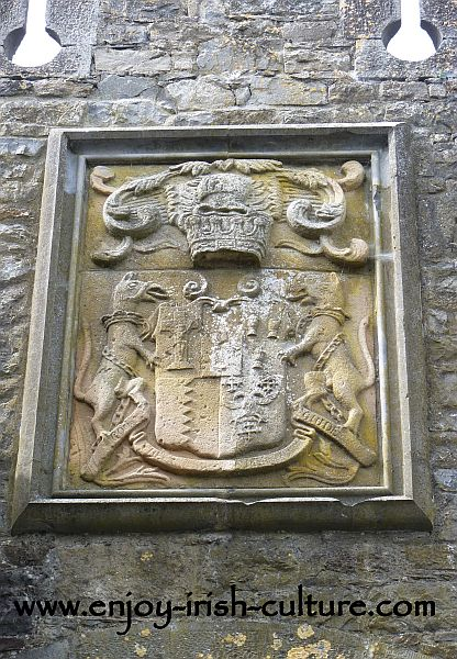 Butler Coat of Arms above the gate of Cahir Castle, County Tipperary, Ireland.