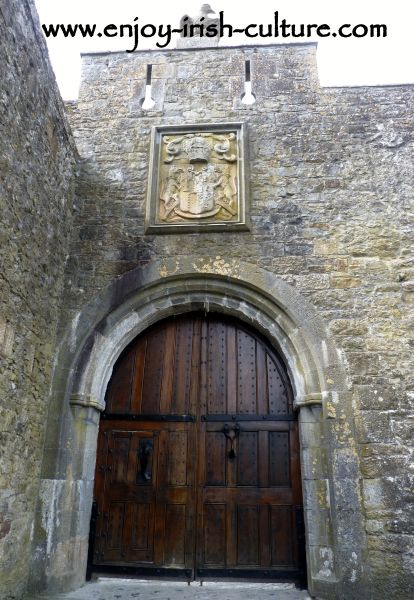 The gate of Cahir Castle, County Tipperary, Ireland.