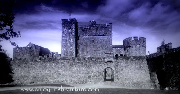 Cahir Castle, Cahir, County Tipperary, Ireland was once considered Ireland's safest castle.