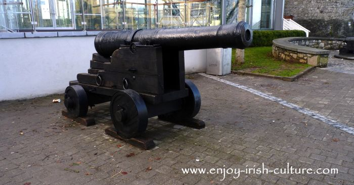 A cannon at Limerick Castle, Limerick, Ireland.