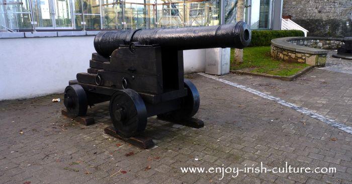 A cannon at Limerick Castle, Limerick, Ireland.