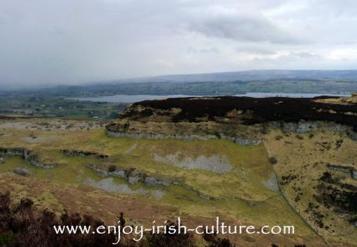 The remains of a stone age village on the plateau below the Carrowkeel complex of megalithic tombs in County Sligo, Ireland.