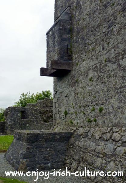 This is the garderobe, a medieval toilet, at Athenry Castle, County Galway, Ireland.