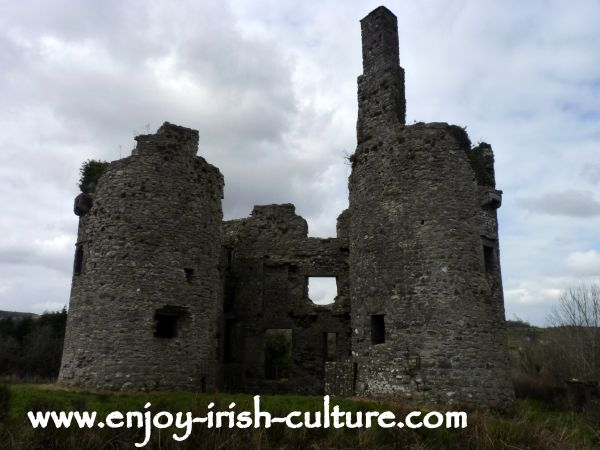 The magnificent ruin of Ballinafad Castle, County Sligo, Ireland.