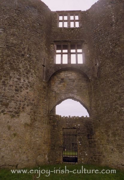 The gate at Roscommon Castle, Ireland, which is one of the most important medieval Irish castles.