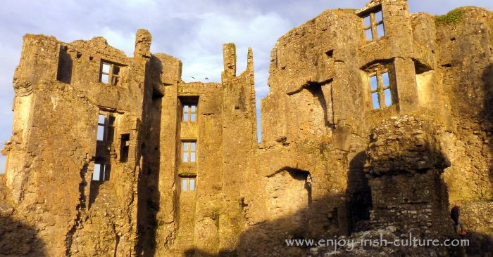 Roscommon Castle, Ireland- the ruin of Sir Malbie's manor house.