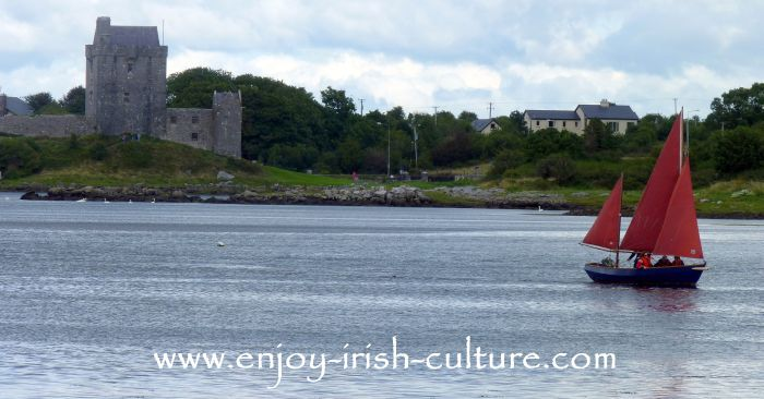 Dunguaire Castle in Kinvara, County Galway, Ireland.