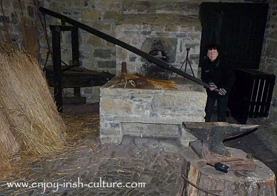 The forge at Parke's Castle, County Leitrim, Ireland.