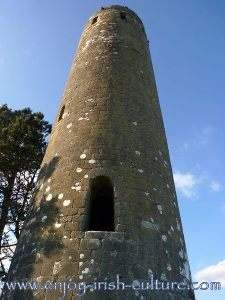 Round tower at Clonmacnoise, Ireland's most important early Christian monastery in County Offaly.