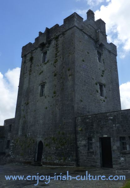 This is the keep of the castle seen from inside the bawn.