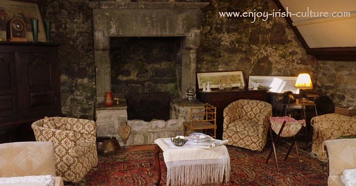 Upstairs living area at the castle which seved as a gathering place for a group of Irish writers during the Celtic revival.