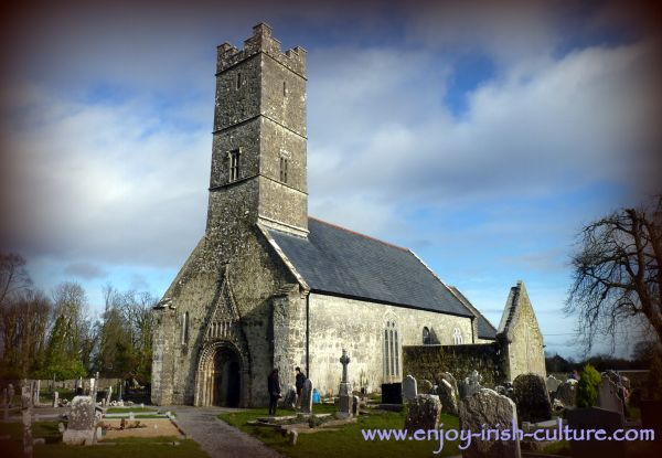 Clonfert Cathedral, a remarkable Irish heritage site in County Galway, Ireland.