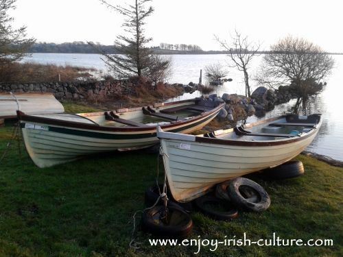 Fishing boats at Annaghdown, County Galway, Ireland.