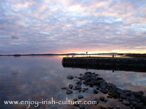 Fly fishing an Irish lake- no better choice than Lough Corrib, spanning Counties Galway and Mayo.