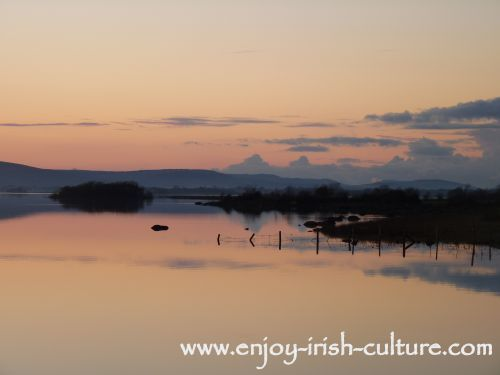 Lough Corrib at Annaghdown, County Galway, Ireland- an ideal location for fly fishing.