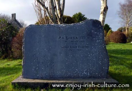 Memorial to the Irish Famine at Annaghdown, County Galway.