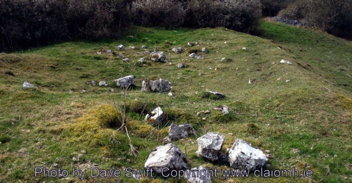 Warriors graves are said to lie under these cairns that buried those slain at the Battle of Knockdoe (County Galway, Ireland).