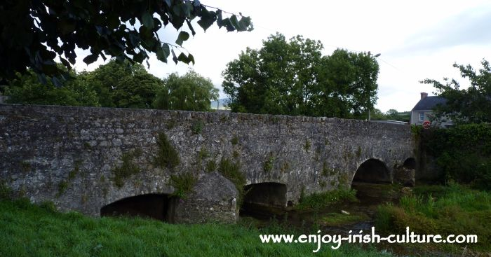 Medieval bridge at the Norman market town of Fethard, County Tipperary, Ireland.