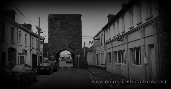 The North gate of the medieval town of Athenry in County Galway, Ireland