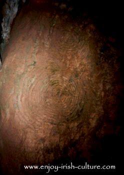 Neolithic art at Newgrange passage tomb, County Meath, Ireland.