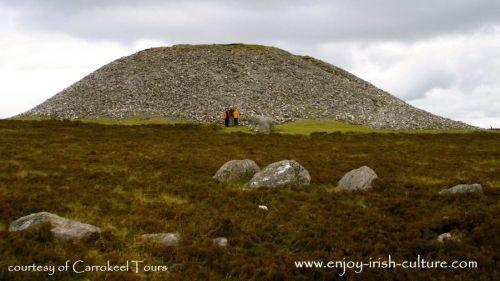 Maeve's grave on top of Knocknarea, County Sligo, Ireland.