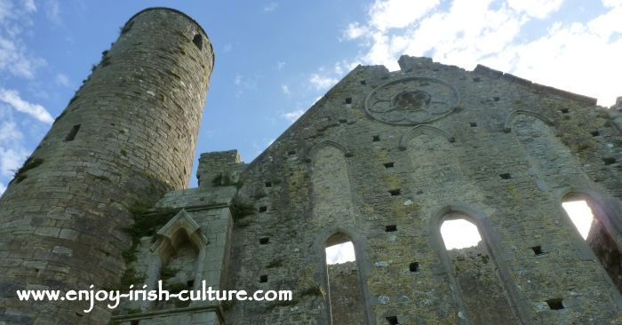 The Rock of Cashel, Cathedral and round tower.