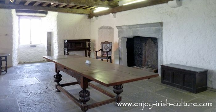 Former residential hall housing the lord and his family as well as the servants at Cahir Castle, County Tipperary, Ireland.