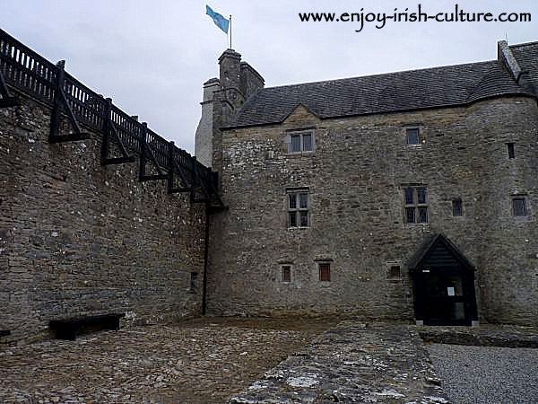 The manor house part of Parke's Castle, County Leitrim, Ireland.