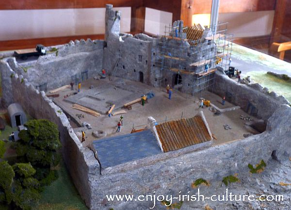 A model of the castle on exhibition at Parke's Castle, County Leitrim, Ireland.