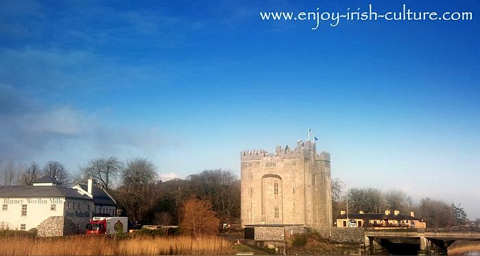 Bunratty Castle at Bunratty, County Clare, Ireland is one of the best known castles of Ireland.