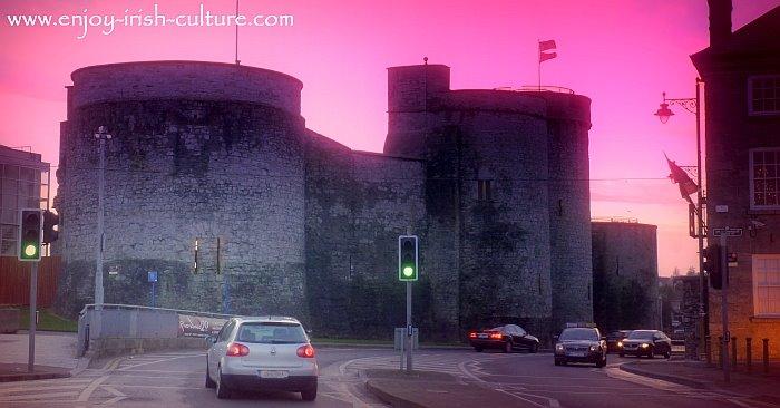 Limerick Castle (King John's Castle), an early Norman castle in Ireland.