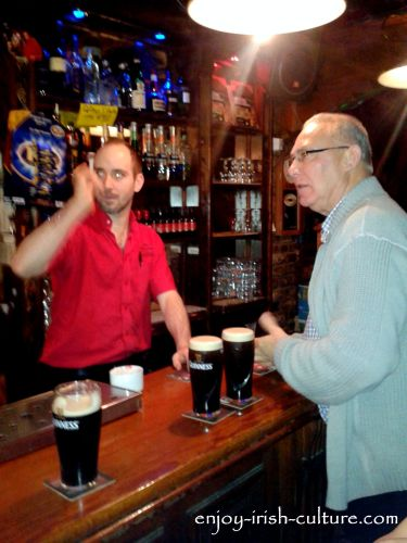 In Ireland, you could easily be invited by a stranger offering to buy you lunch or a drink.