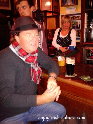 Irish pub culture, having a pint at Tigh Neactain's in Galway, Ireland.