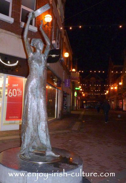 Musical sculpture in Limerick City, Ireland.