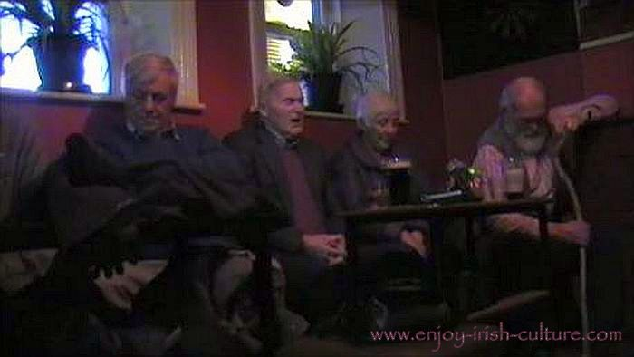 Irish song session in Gort, County Galway, 2013.