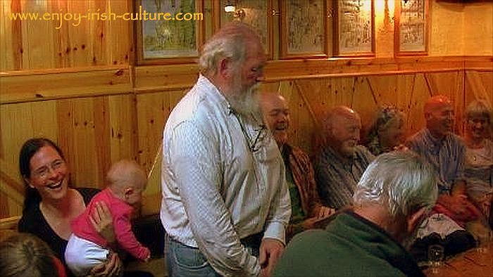 Irish traditional song session at Kinvara, County Galway, 2013.