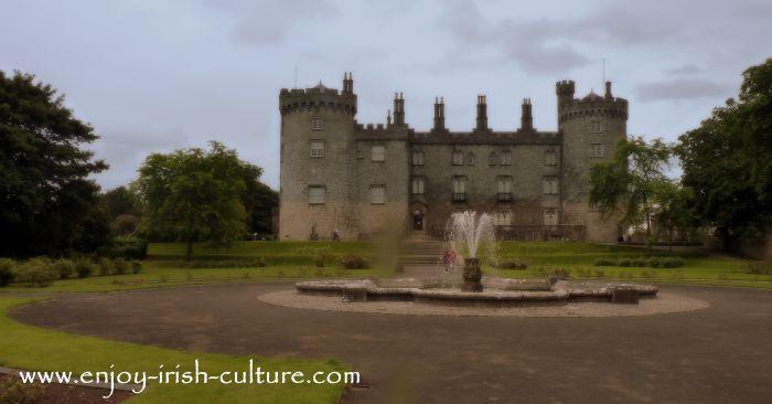 Kilkenny Castle, Ireland, seen from the gardens