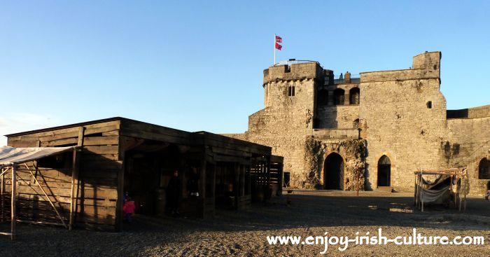 Limerick Castle, Limerick, Ireland, inside the curtain wall.