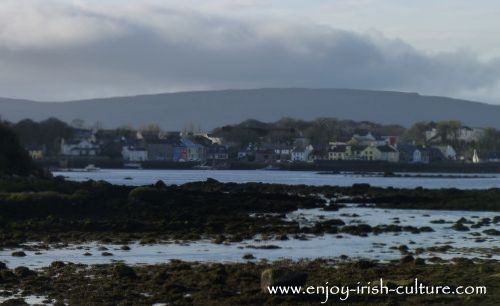 The Irish landscape at Kinvara, County Galway, Ireland, where well-known uilleann pipe player and instrument maker Eugene Lambe has his workshop.