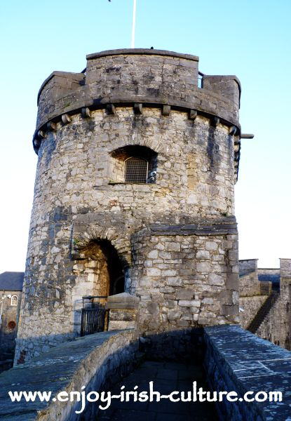 Tower at King John's Castle, Limerick, Ireland.