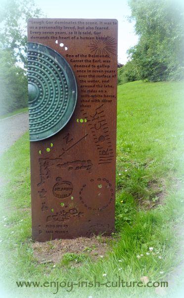 Sculptures along the hill walk