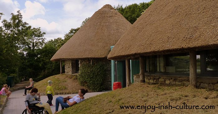 The Visitor Centre in the shape of a round house of ancient Ireland.