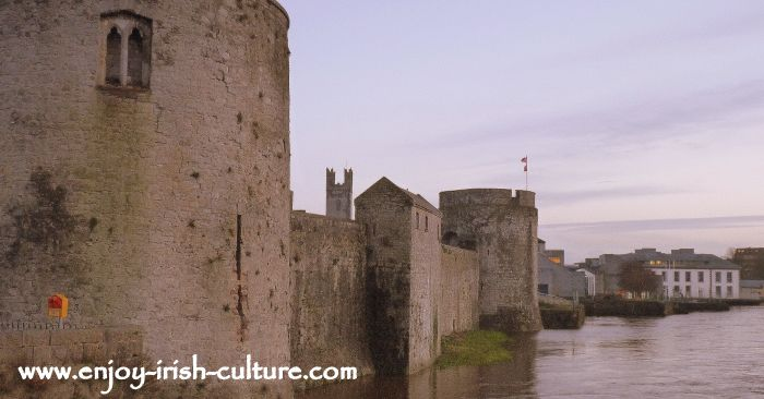 The Norman invasion saw the building of countless castles as military strongholds. King John's Castle at Limerick.